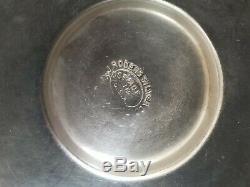 Antique silver plate sugar spooners figural feet blue glass sugar bowls Rogers S