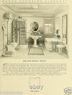 Antique vtg Victorian Nickel plate Brass bar TOWEL BASKET JLMott bath barbershop