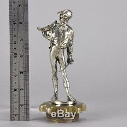 Art Deco Silver Plated Bronze Car Mascot'Jockey' by Eugene Lalouette