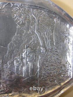 Art Nouveau/ Jugendstil WMF Silver Plated Tray / WALL PLAQUE