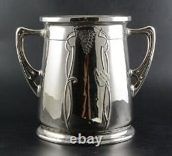 Art Nouveau Secessionist Wine Cooler Bucket Gebruder Bing Nurnberg Silver-plate