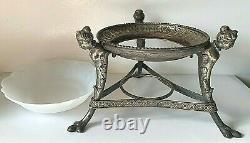 Art Nouveau Silver Plated Figurative Center Piece Server