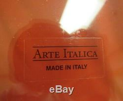 Arte Italica Vetro Silver Glass Dinner Plates Set of 12