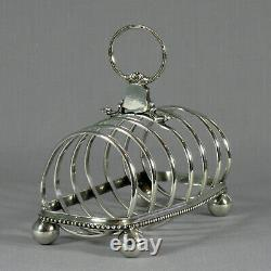Authentic White Star Line Toast Rack Pre RMS Olympic Elkington Silver Plate 1903