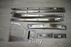 BMW E39 Original Satin Finish Chrome Plated MattChrom Matt Silver Interior Trim