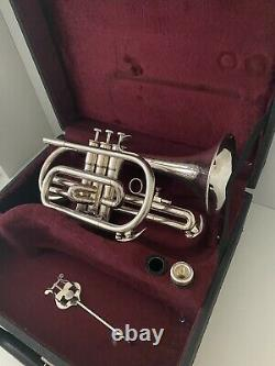 Besson Cornet, Silver On Brass, High Gloss, Besson 600 With Original Case