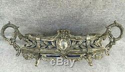 Big antique french planter silver plated metal 19th century Louis XVI style