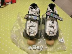 Bont custom silver skates pilot falcon plates UK 4 roller derby quads