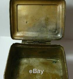 Box Signed Imperial Russia Double Eagle 1899 Brass Silver-Plate