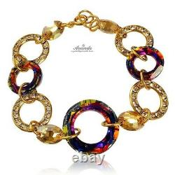 Bracelet Original Crystals Volcano Ring Gold Gold Plated Silver Certificate