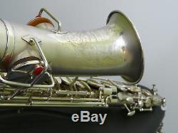 Buescher 24/5 True Tone Alto Saxophone 2tone Matt Silver Plated, Original Snaps