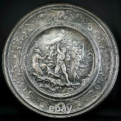C1880, ANTIQUE 19thC ELKINGTON ELECTROTYPE SILVER PLATED PLAQUE WALL PLATE 1