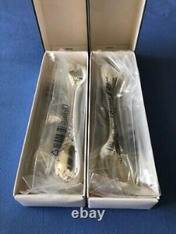 CHRISTOFLE MARLY SILVER PLATED PASTRY FORKS Set of 12 NEW in Original Boxes