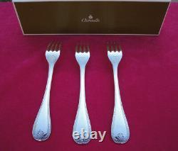 CHRISTOFLE Malmaison 3 dinner forks 20,5 cm long. Silver plate