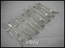 CHRISTOFLE VENDOME 12 DINNER FORKS SILVER PLATED FRANCE in ORIGIN BOX