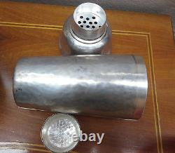 COCKTAIL SHAKER WMF ART DECO silver plated hand hammered very good Condition