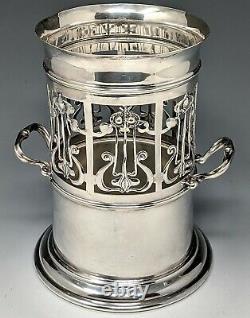 Ca 1900 Art Nouveau ROBERTS & BELK Silverplate Siphon Stand Wine Caddy SHEFFIELD