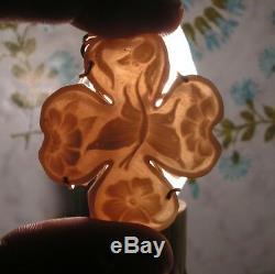 Cameo pendant original hand-carved Sardonyx Shell 40mm X 36mm ITALY