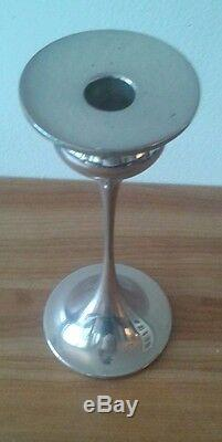 Candleholder Art Nouveau Candestick Holder Silver Plate on Copper WMF Marked