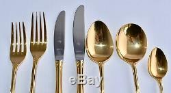 Canteen of Rodd GOLDEN GLORY Cutlery 6 Person + Extras 24K Gold Plated