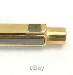 Caran D'ache Ecridor Hexagonal Silver Gold Plated Ballpoint Pen A0594 Original