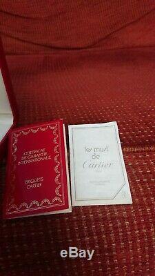 Cartier Lighter Vintage Original Box & Certificate. Gold plate worn of