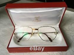 Cartier Paris vintage Titanium Platinum & 22ct Gold Plated glasses frame & case