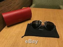 Cartier Sunglasses Santos Dumont Limited Series Sunglasses Silver PLATED