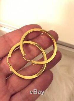 Celine Medium Hoops Earrings in Gold Vermeil Original Box & Dust Bag Pre-loved