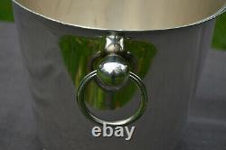 Champagne Bucket Ravinet D Enfert Silver Plated Metaille Blanc Marked 24