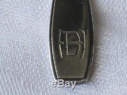 Christofle French Art Deco demitasse spoons set of 12 in original box