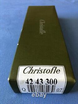 Christofle NEW OMNIA Silver plated Pierced Serving Spoon 8 1/8 in original Box