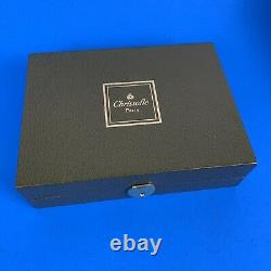 Christofle Silverplate Champagne Bottle Opener & Stopper Original Box Ebony