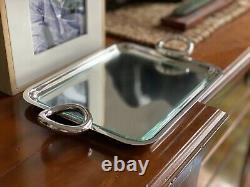 Christofle Vertigo Silver-plate Tray with Handles