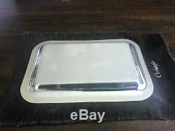 Christofle small tray nicee collection, silver plate. New with original sealed Box