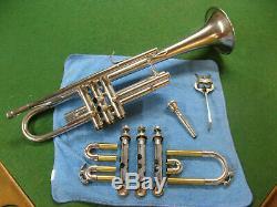 Cleveland Toreador Trumpet in Silver Reconditioned Non-original Case and MP