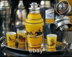 Cocktail Shaker Set, Hukin & Heath, Vintage, Antique, Silver Plated, Glass