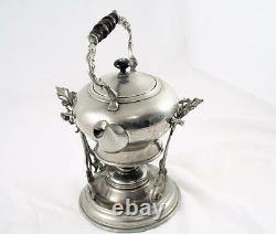 Collectable Original Kettle Samovar Tea Urn Teapot Silver Plated France 19C