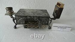 Commemorative Art Nouveau Box With Candleabra & Matchbox