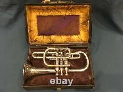 Conn Cornet New York Wonder 1901 Silver Plated With Original Case