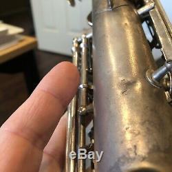 Conn chu berry alto saxophone Original Silver Plate Serial # M147, xxx L Pitch