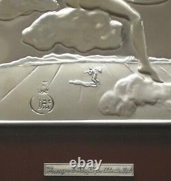 Dali Salvador Bas Relief En Argent 925/1000 Signé 1977 Signed Silver Plate D. 501