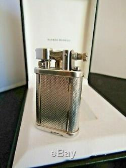 Dunhill Lighter Mini Unique Silver Plated Original Box Excellent Condition