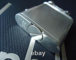 Dunhill Unique PIPE Lighter Silver Plated Barley Pattern/Original Slip Case