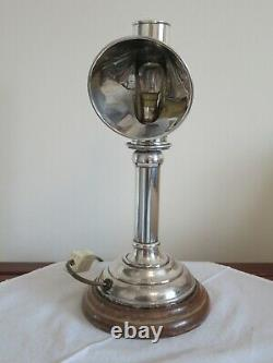 Early 20th Century Converted To Electric Silver Plated Students Desk Lamp