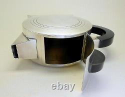 Exceptional 1930 Art Deco Cubist period silver plate coffee pot Prata-Vix Brazil