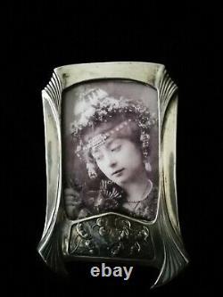 Exquisite Art Nouveau, Secessionist Rare Original Silver Pl. Picture/photoframe