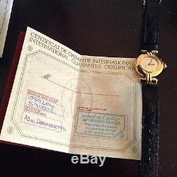 Fantastic Vintage Le Must De Cartier Vermeil Watch Original Bag, Box & Paperwork