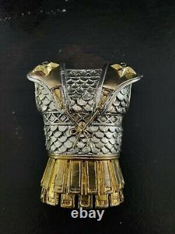 Franklin Mint GREEK SPARTAN 480 B. C. Armour Hand Cast Pewter 24k Gold Accents