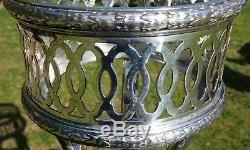 French Art Deco 1920s Champagne Bucket Stand in Hallmarked Plated Silver